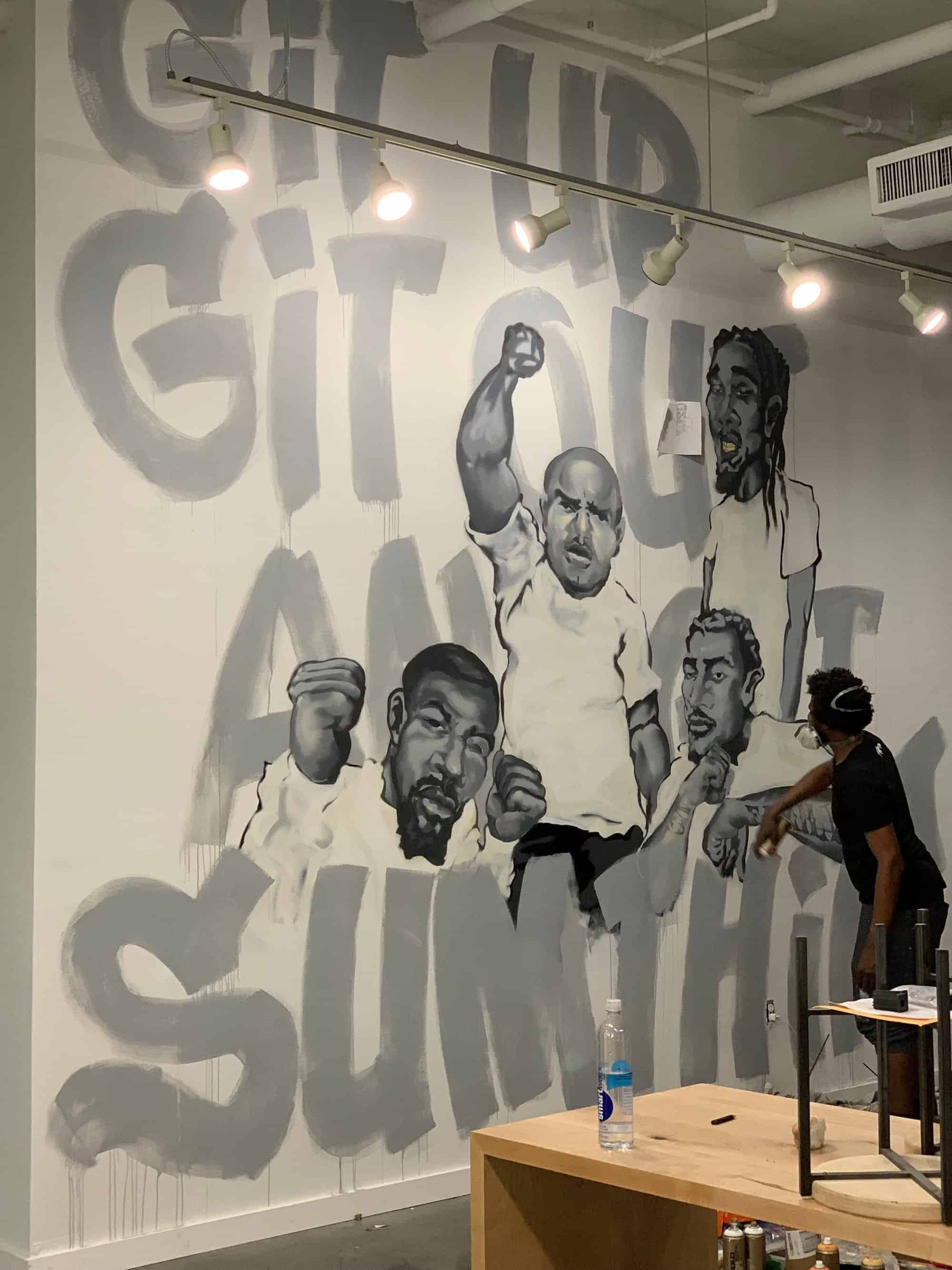 goodie mob mural by nashville artists